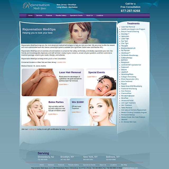 Home page layout