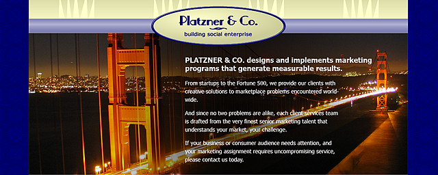 Proposed Platzner & Co. Website